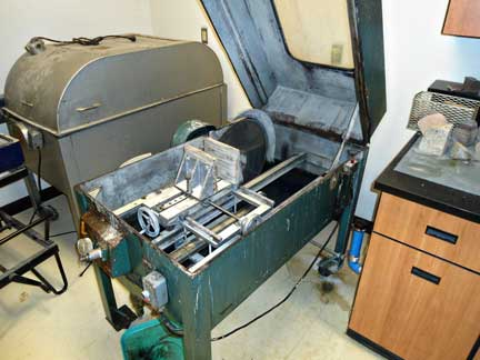 Water and oil-cooled diamond blade rock saws for sample preparation: Contact: Randy Corney