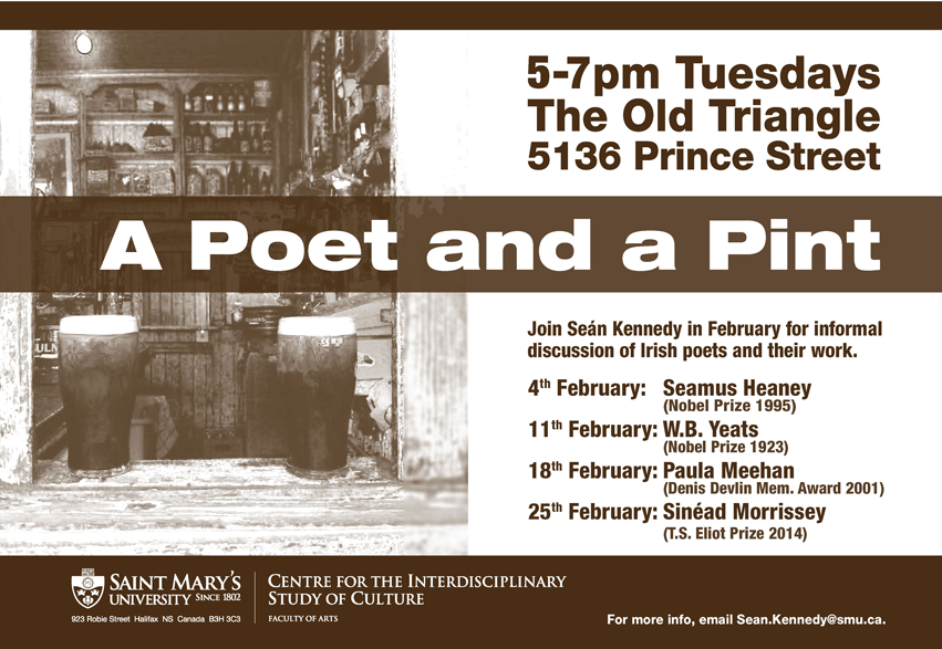 poetry reading at the Old Triangle