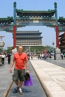 Dr. Henry on Qianmen Street, Beijing, China, 2010