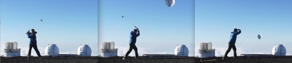 Golfing at Hawaii Observatory