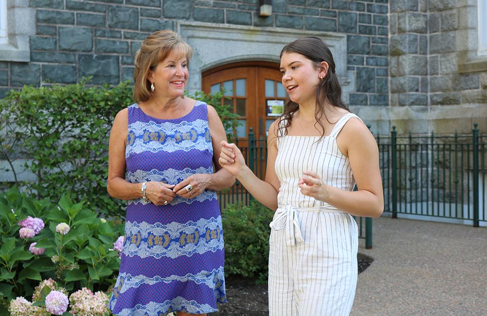Leslie McLean and award recipient Madison Bond