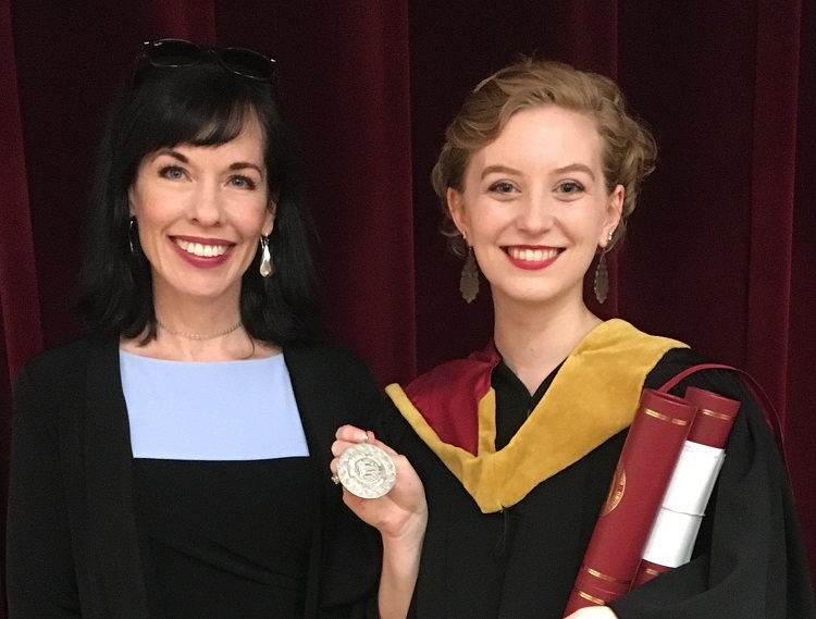 Maggie Redden, 2018 recipient of the Brian O'Brien Medal and Professor Bridget Brownlow