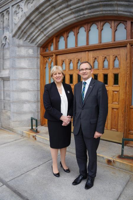 Heather Humphrey TD with President Robert Summerby-Murray 2015